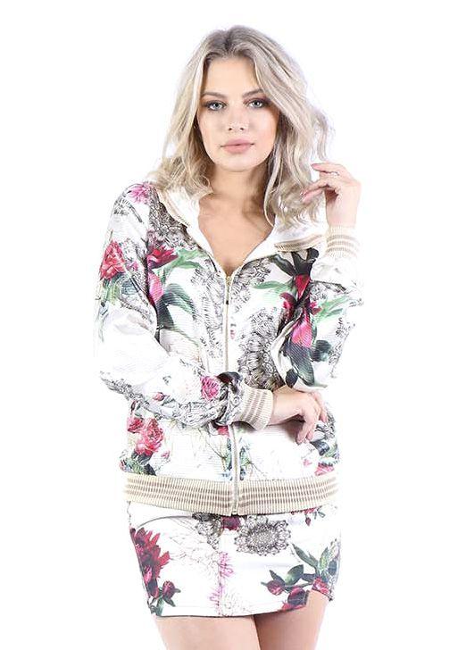 Jaqueta Bomber Bana Bana Estampada Floral