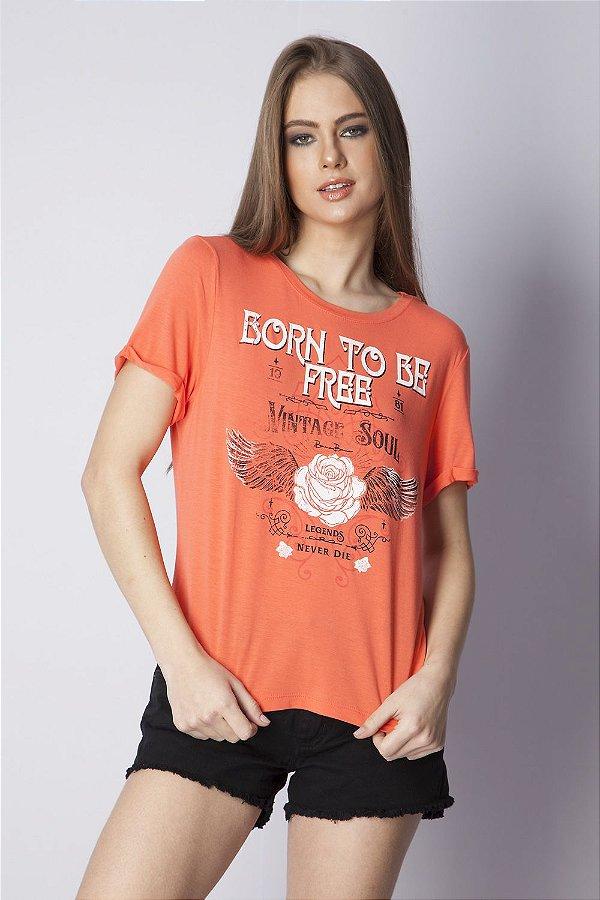 T-Shirt Bana Bana com Estampa Coral