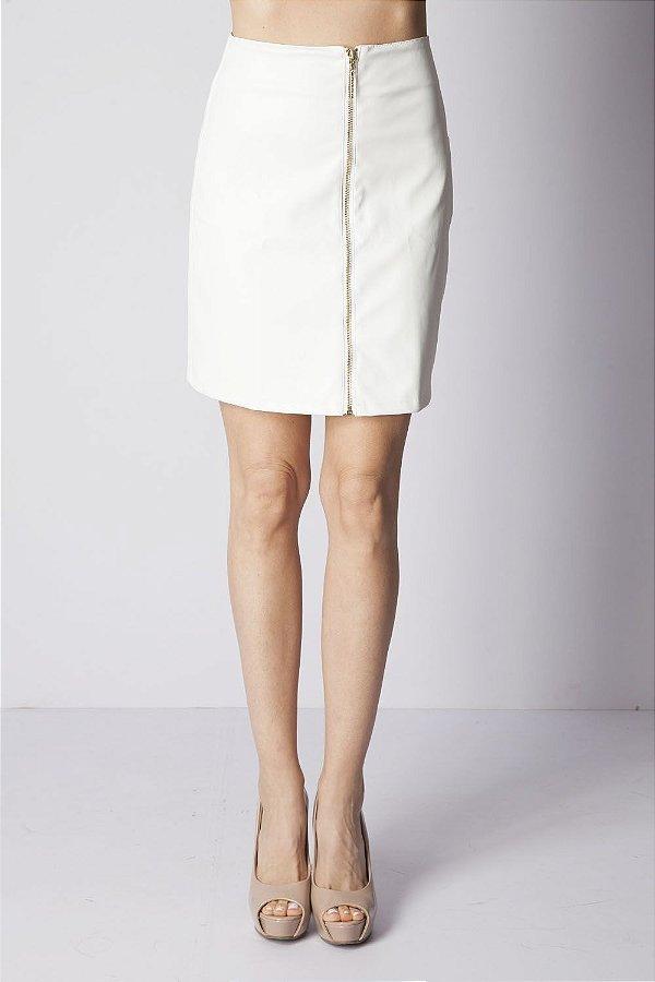 Saia Bana Bana Reta em Leather Off White