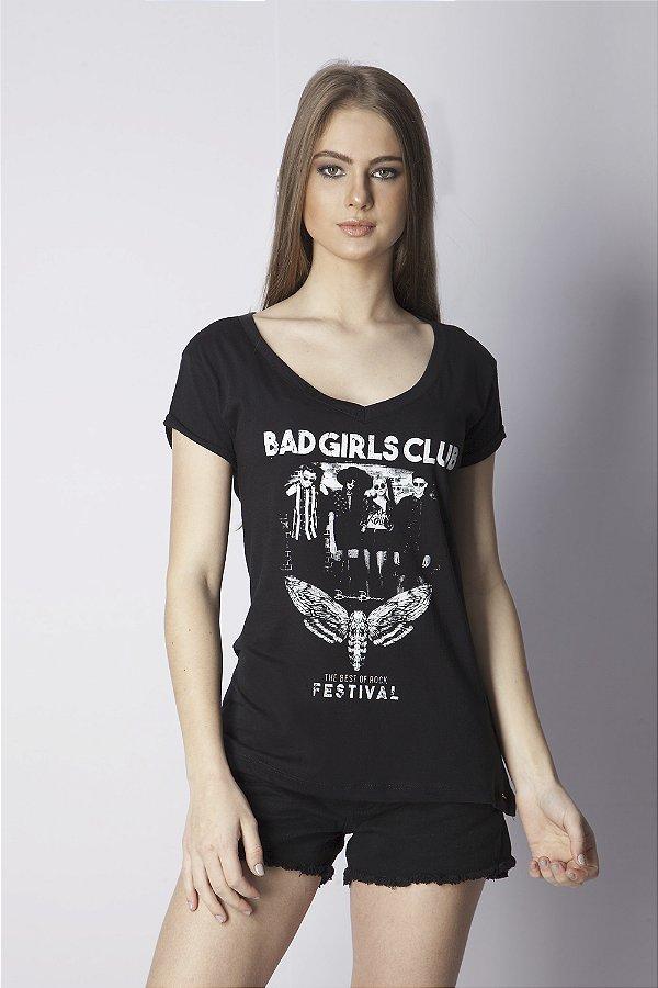 T-Shirt Bana Bana Estampada Preto