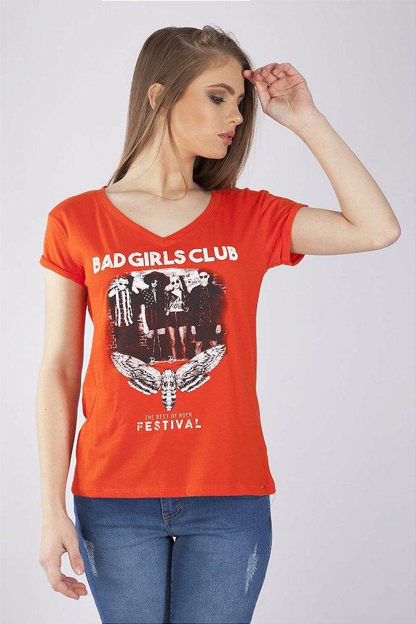 T-Shirt Bana Bana Estampada Coral
