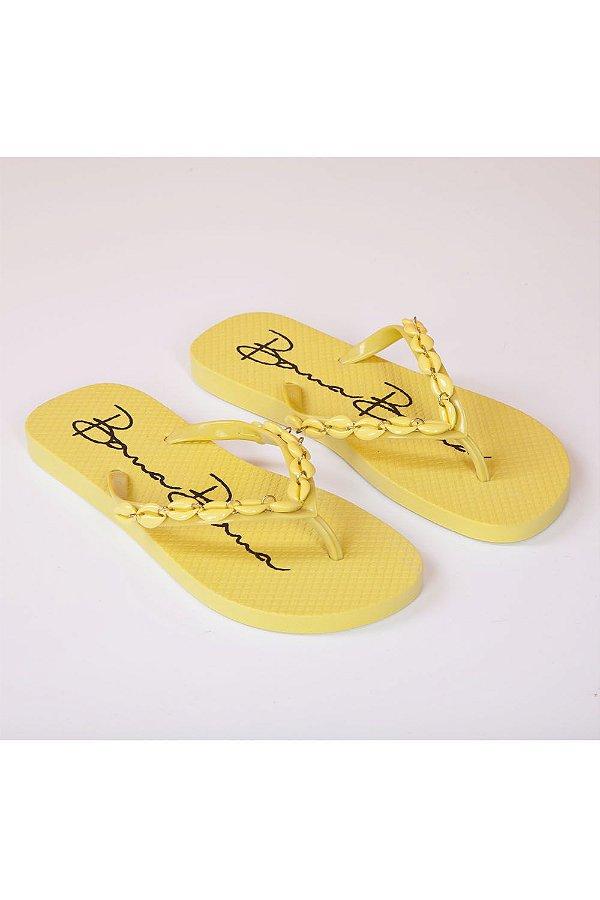 Chinelo Bana Bana com Buzios Amarelo