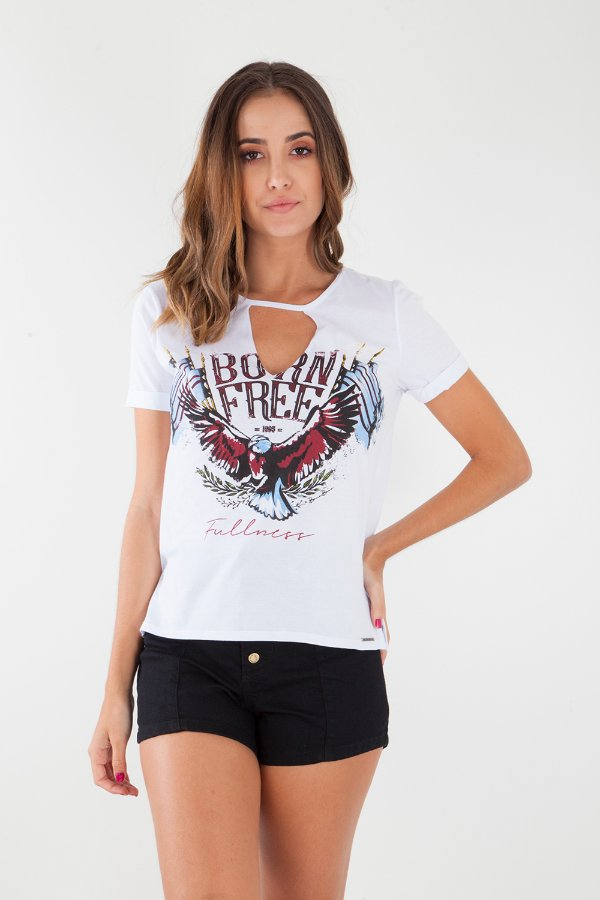T-Shirt Bana Bana Chocker Branca