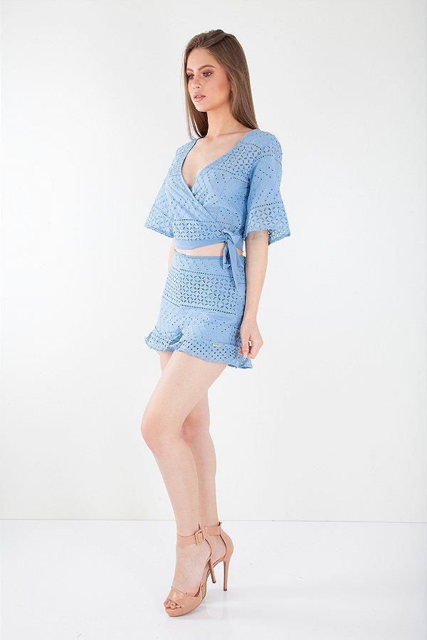 Shorts Bana Bana em Laise Azul
