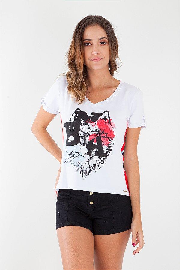 T-Shirt Bana Bana Estampada Branca