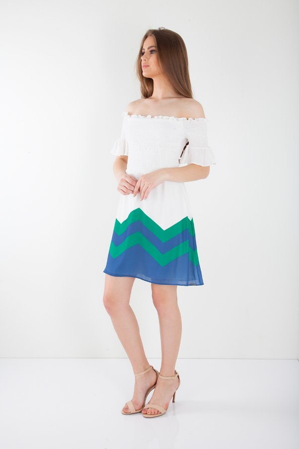 VESTIDO HAPPY HOUR - GEOMETRIC GREEN