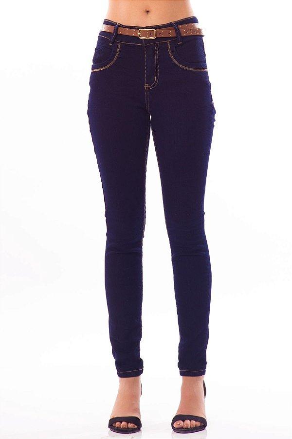 Calça Jeans Bana Bana Midi Skinny Tradicional Azul