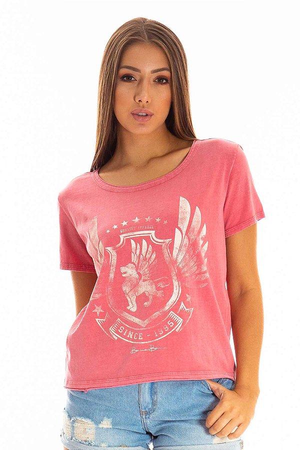 T-Shirt Bana Bana Estampada Vermelho
