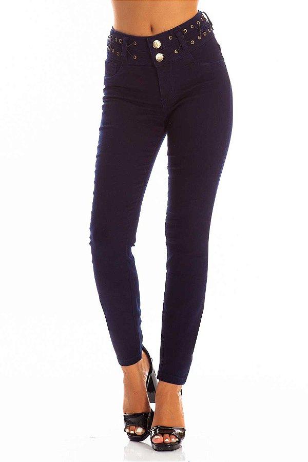 Calça Jeans Bana Bana Skinny Two Belts com Cós Trançado