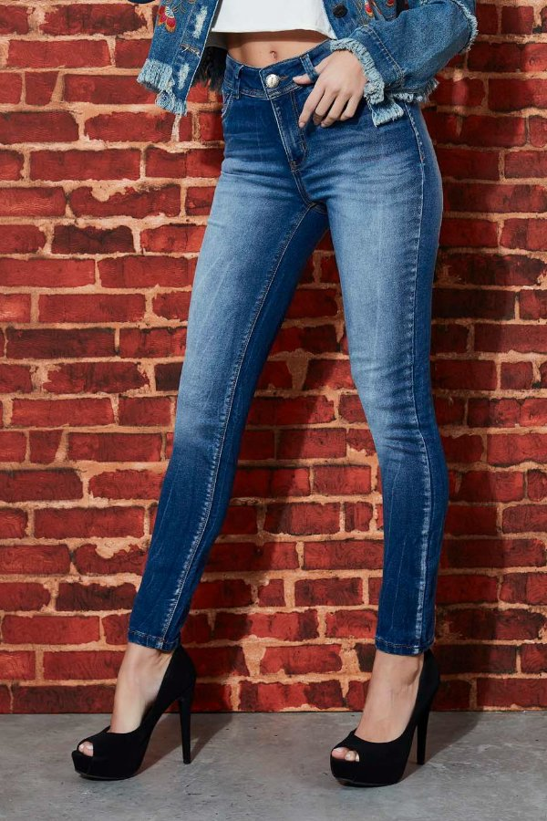 Calça Jeans Bana Bana Mid Skinny
