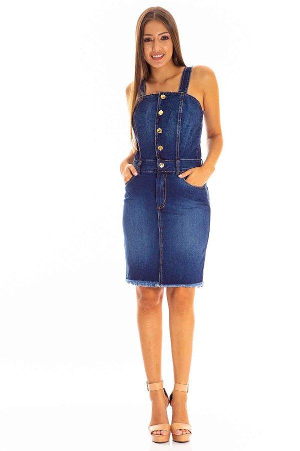 Vestido Jeans Bana Bana Jeans com Alça Regulável