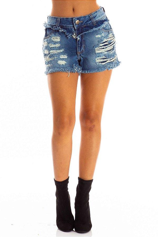 Shorts Jeans Bana Bana com Destroyed