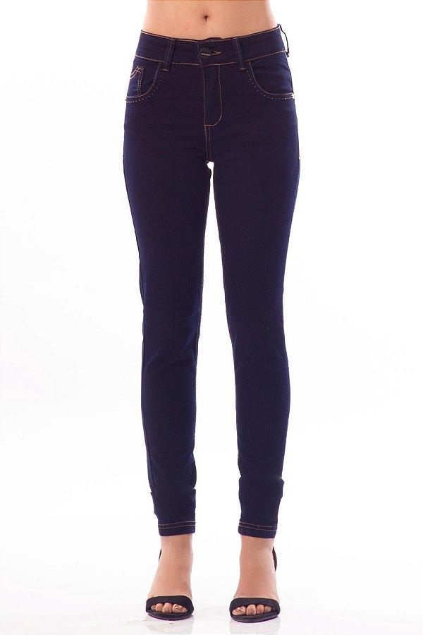 Calça Jeans Bana Bana Midi Skinny com Pespontos