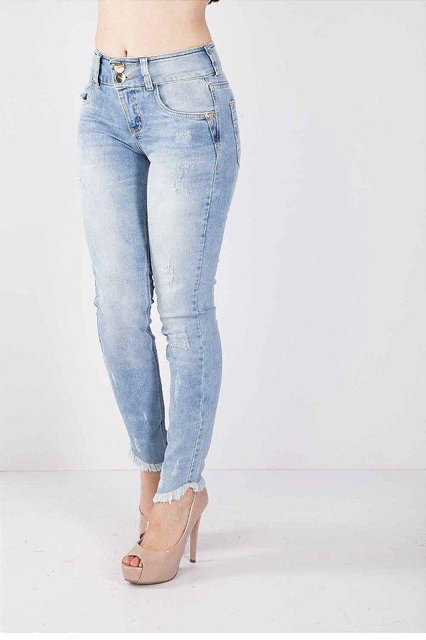 Calça Jeans Bana Bana Midi Skinny Two Belts