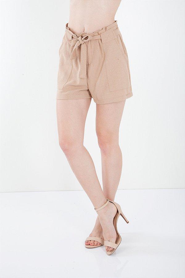 Shorts Bana Bana Alfaiataria Clochard Caramelo