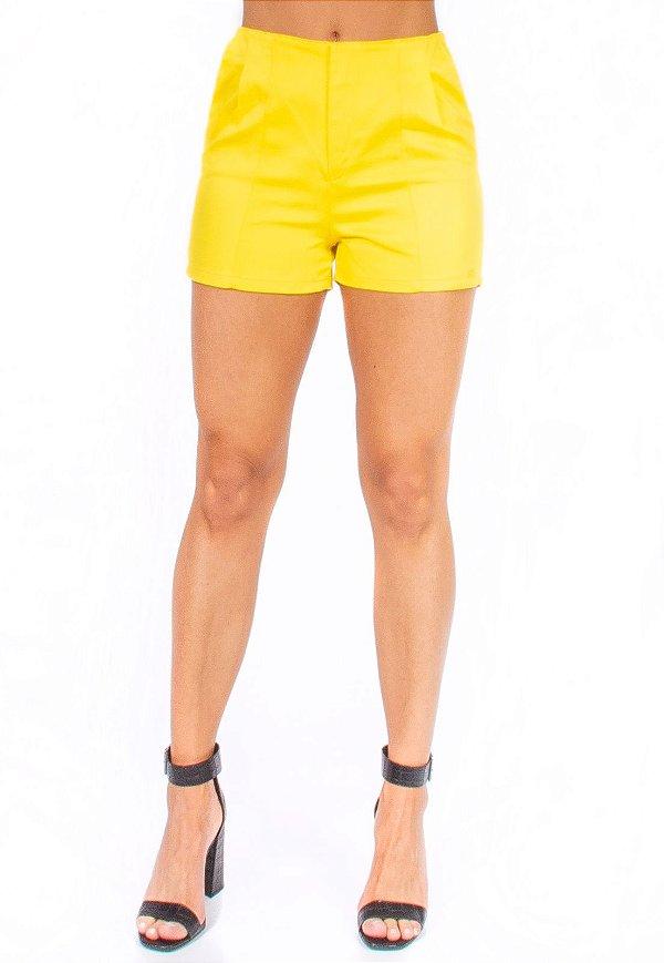 Shorts Bana Bana Alfaiataria Amarelo