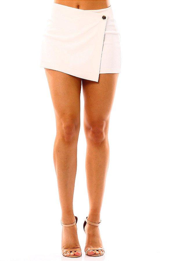 Shorts Saia Bana Bana Assimétrico Off White