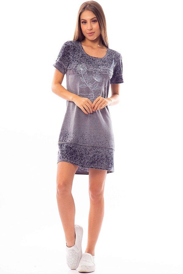 Vestido Curto Bana Bana T-Shirt com Estampa