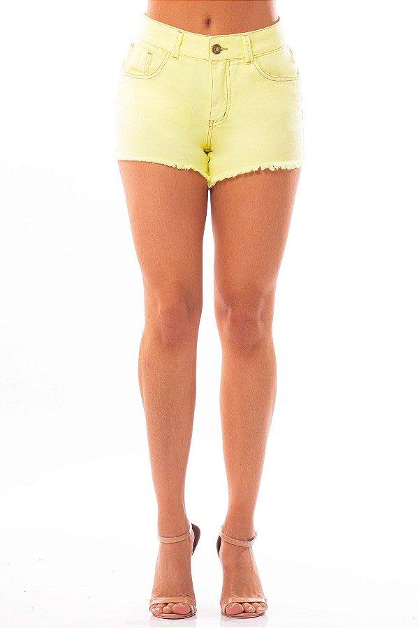 Shorts Jeans Bana Bana Hot Pants Amarelo