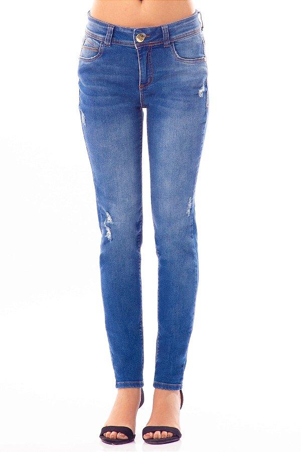 Calça Jeans Bana Bana Midi Cigarreti Azul