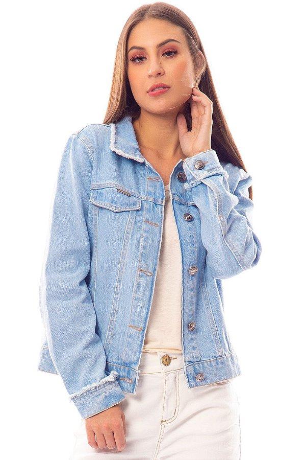 Jaqueta Jeans Bana Bana Estampada