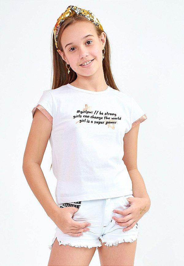 Blusa Bana Bana Star T-Shirt Branca
