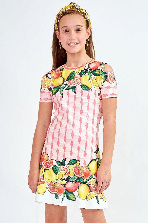Vestido Bana Bana Star Estampa Frutas