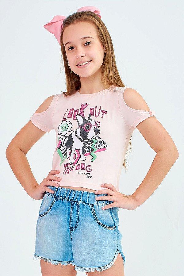 Blusa Bana Bana T-Shirt Star Rosa