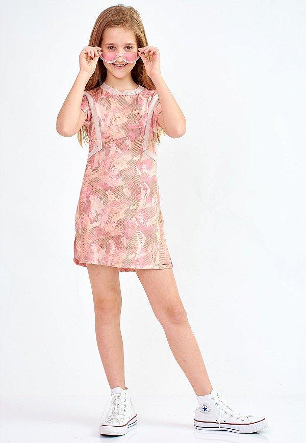 Vestido Bana Bana Star Camuflado Rosa