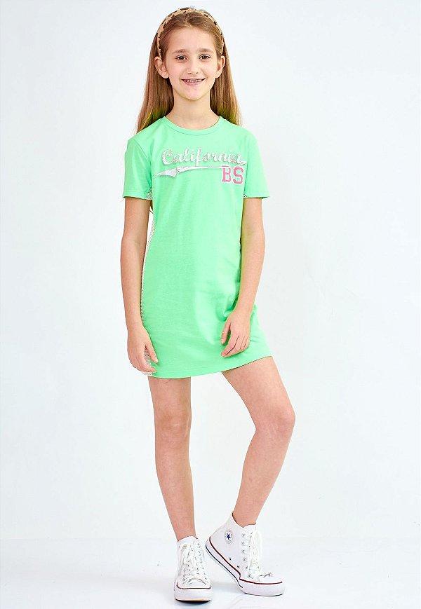 Vestido Bana Bana Star T-Shirt Verde Neon