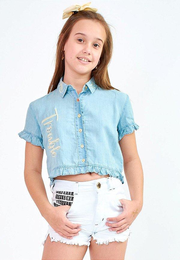 Camisa Jeans Bana Bana Star Oversized