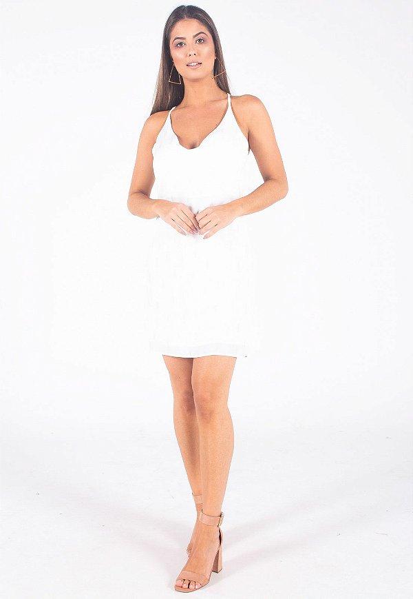 Vestido Curto Bana Bana Frente Única Off White