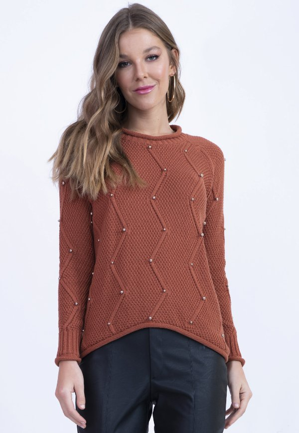 BLUSA TRICOT HAPPY HOUR - COLORAL