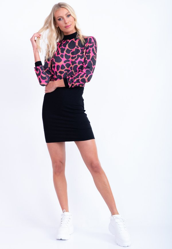 VESTIDO MOLETOM CASUAL - PINK POWER