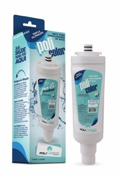 refil policolor para purificador de água colormaq policarbon