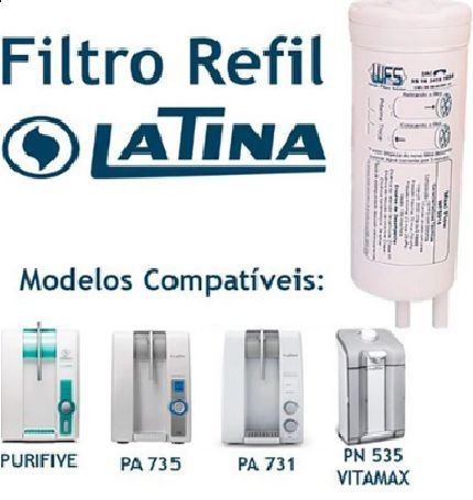 Refil Filtro Purificador Latina Pa735 Pa731 Pn535