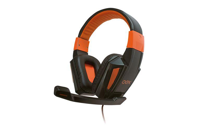 Fone Gamer OEX HS205 Combat Preto/Laranja