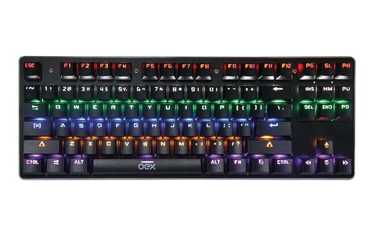 TECLADO GAMER OEX TC602 SPECTRUM PRETO