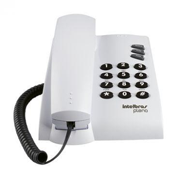 TELEFONE INTELBRAS PLENO C/ FIO CINZA S/ CHAVE