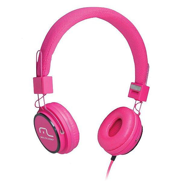 Fone de Ouvido Multilaser PH088 Headphone Rosa P2