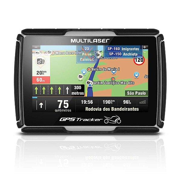 """GPS Multilaser GP040 4,3"""" para Moto Resistente a Água"""