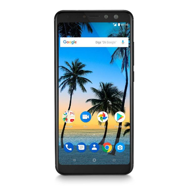 "SMARTPHONE MULTILASER MS80 NB724 4GB RAM + 64GB TELA 5,7"" HD+ ANDROID 7.1 QUALCOMM DUAL CâMERA 20MP+8MP PRETO"