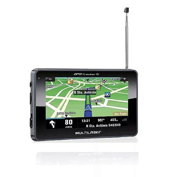 Gps  Multilaser  GP034 Tracker  III 4,3'' Com Tv Digital  e Rádio FM