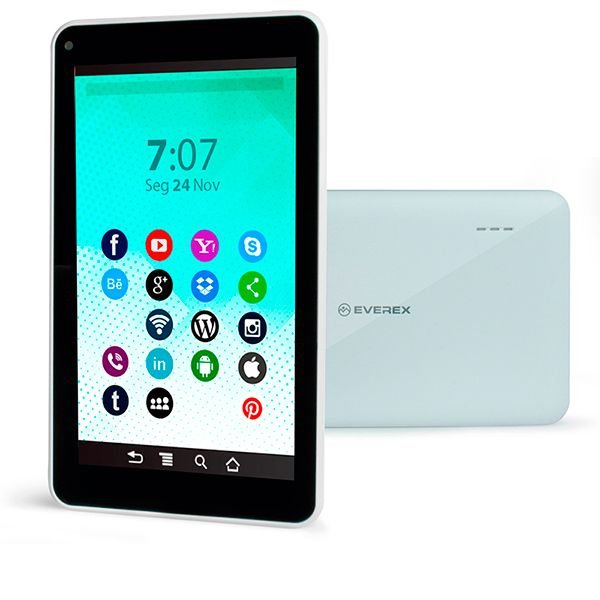 "Tablet Everex Fine7 7"" 512Mb Ram 8GB Branco"