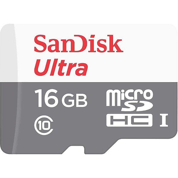 Cartão de Memoria Sandisk Micro SD 16gb Ultra Classe 10 80mb/s