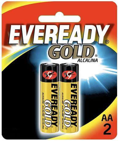 Pilha Eveready Gold AA com 2 A91BP-2