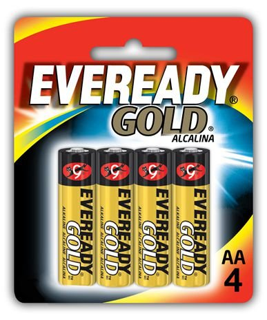 Pilha Eveready Gold AA com 4 A91BP-4