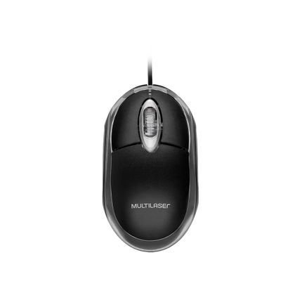 Mouse Multilaser Classic Box MO179 c/ Fio USB