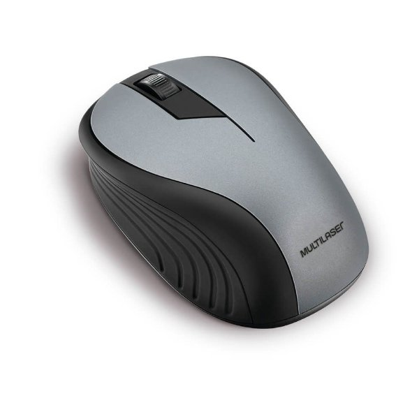 Mouse Multilaser MO213 Cinza