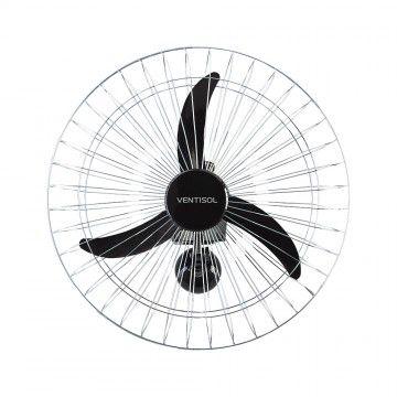 Ventilador Ventisol 60CM Parede New Premium 3 Pas Preto